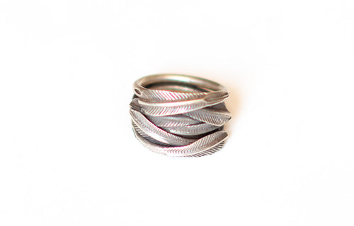Feathers Silver Hill Tribe Ring