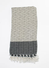 Load image into Gallery viewer, Turkish Towel, Aisha in Black