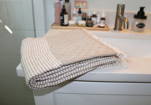 Turkish Towel, Aisha in Latte