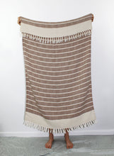 Load image into Gallery viewer, Turkish Beach Towel, Zeynep in Coffee