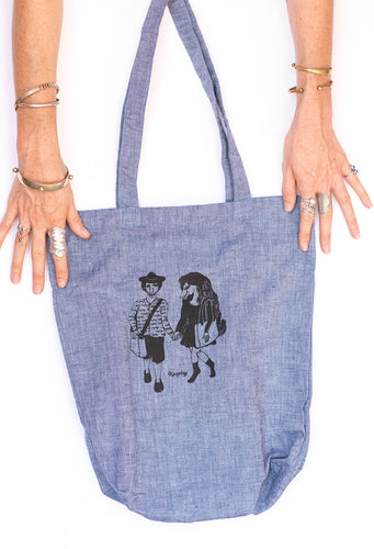 Kasploy Blue Lovers Tote