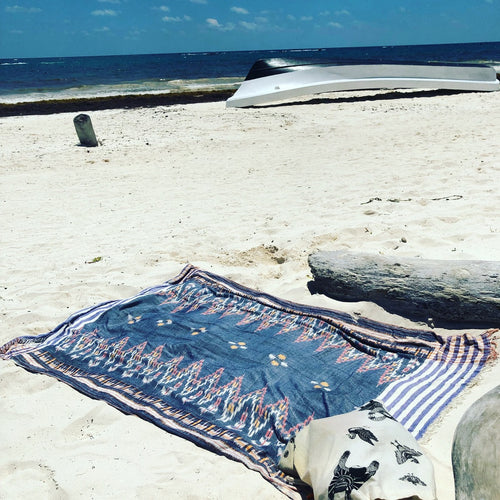 Bali Ikat Cotton Scarf/Sarong/Beach Blanket/Table Cloth/etc. - GadaboutGoods