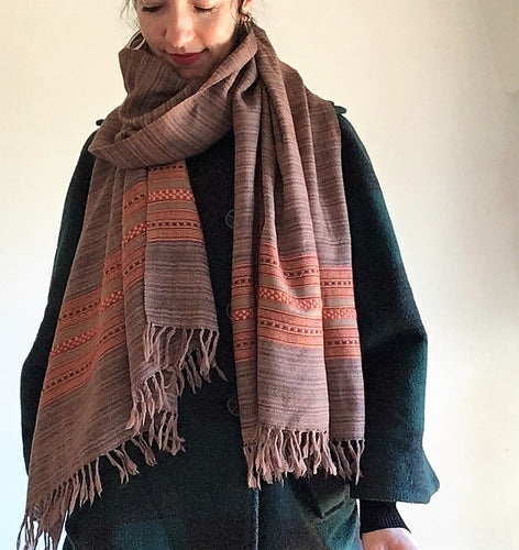 Hand Loomed Wool Kullu Scarf India