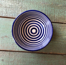 Load image into Gallery viewer, Striped Blue Bowl - GadaboutGoods
