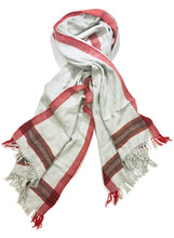 Load image into Gallery viewer, Hand Loomed Kullu Wool Scarf- Light Grey