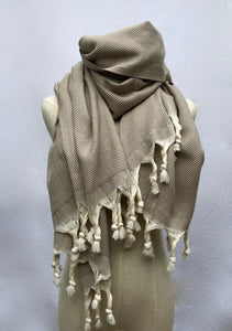 Hand Loomed Cotton Throw/Oversized Scarf - GadaboutGoods