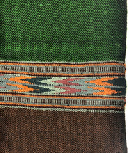 Load image into Gallery viewer, Hand Loomed Kullu Wool Scarf- Forest Green