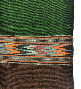 Hand Loomed Kullu Wool Scarf- Forest Green