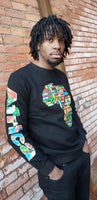 Unisex African Map Sweater