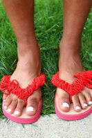 Beaded Design Foot Flop