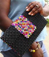 Handmade beaded Clutch