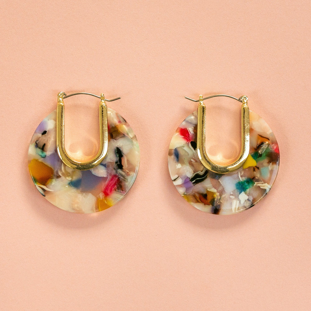 Chunky Resin Hoops (Multi Colour) - Sour Cherry