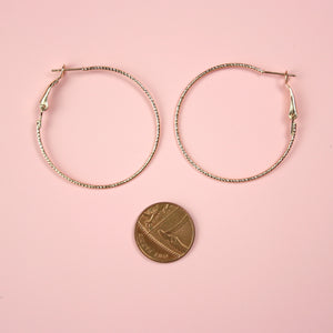 40mm Rope Hoop Earrings (Gold Plated) - Sour Cherry