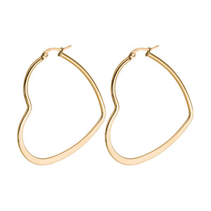 50mm Heart Hoops (Rose Gold Plated) - Sour Cherry