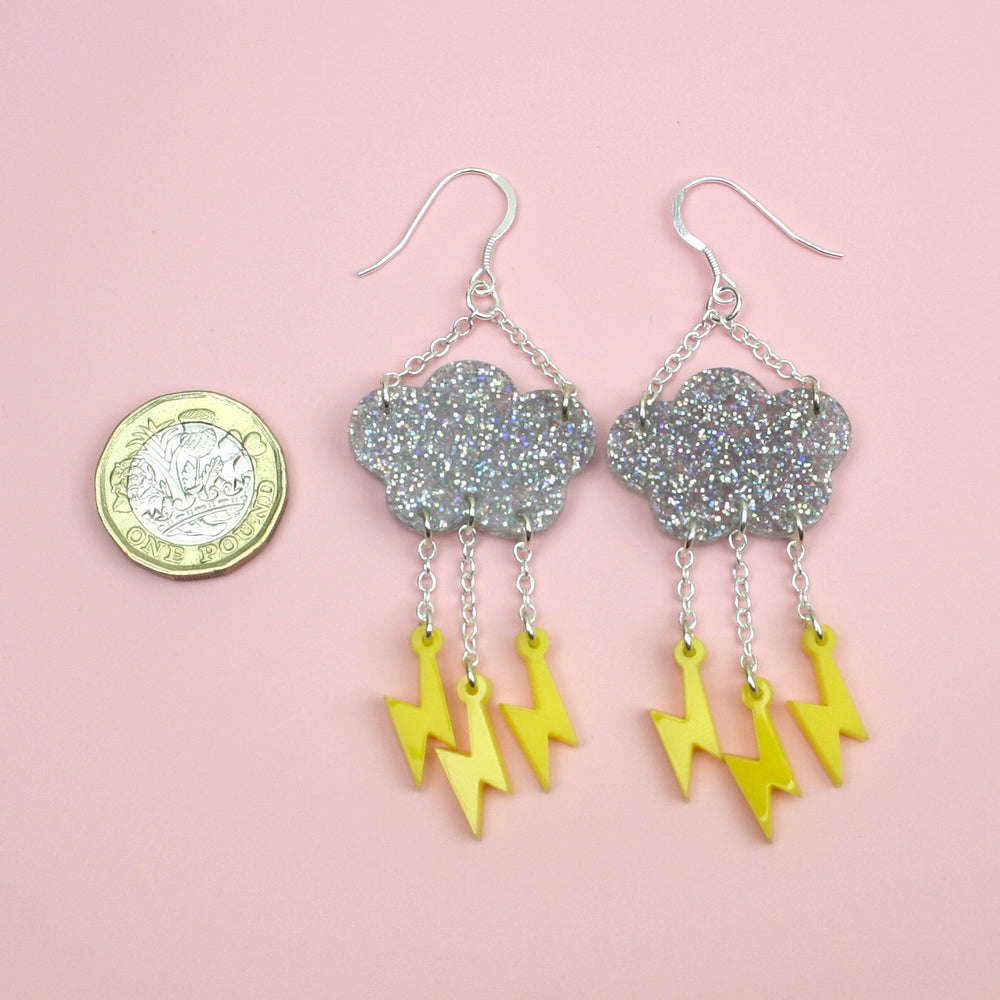 Acid Lightning Earrings
