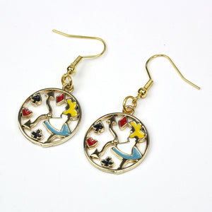 Tick Tock On The Alice Clock Earrings - Sour Cherry