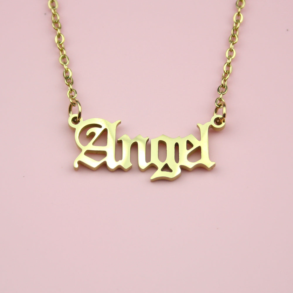 Angel Necklace (Gold Plated)
