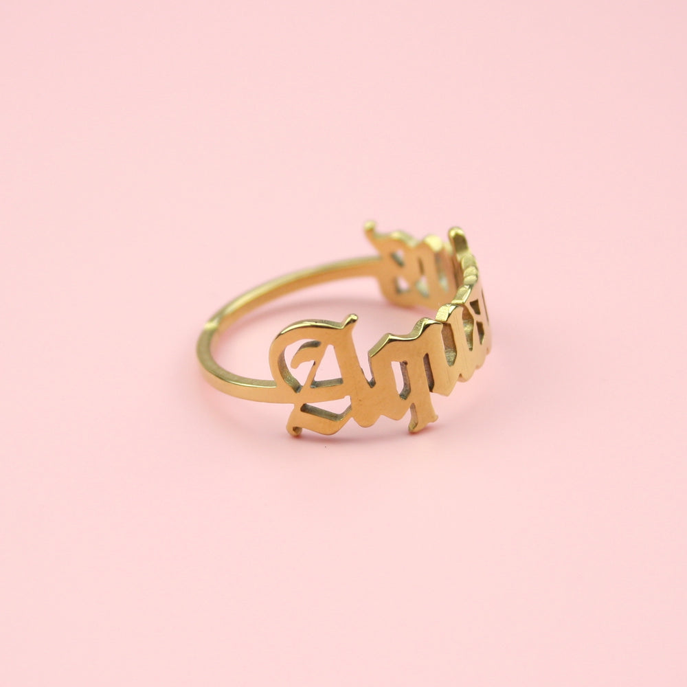 Load image into Gallery viewer, Aquarius Zodiac Ring (Gold Plated)