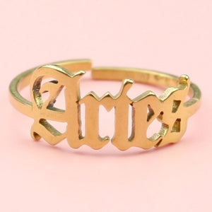 Aries Zodiac Ring (Gold Plated)