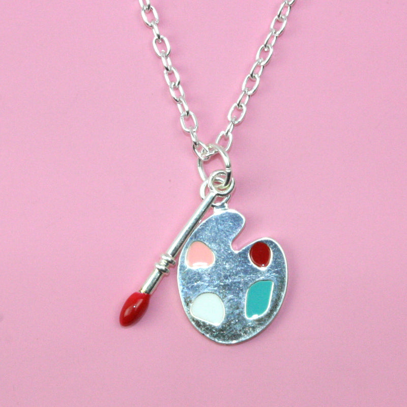 Artist Palette Necklace (Colour) - Sour Cherry