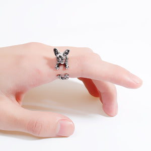 Frenchie Dog Ring - Sour Cherry
