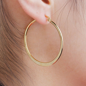 41mm Round Hoop Earrings (Gold Plated) - Sour Cherry