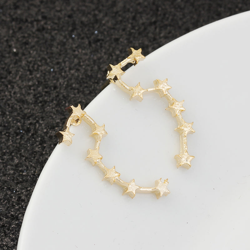 Constellation Ear Climbers (Gold Plated) - Sour Cherry
