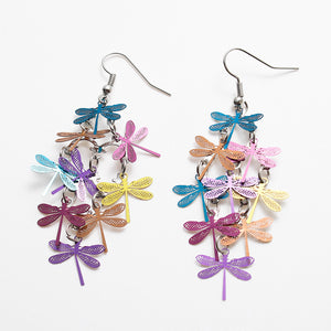 Bright Dragonfly Earrings - Sour Cherry