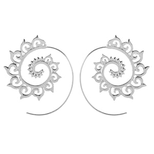 Spiral Earrings (Silver Plated)