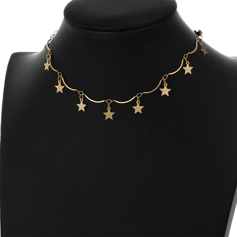 Wish Upon A Star Choker (Gold Plated) - Sour Cherry