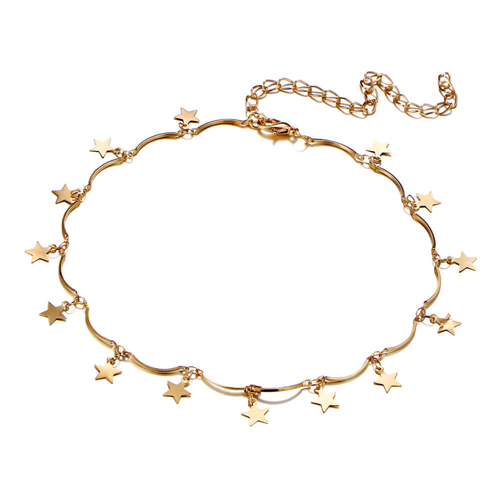 Load image into Gallery viewer, Wish Upon A Star Choker (Gold Plated) - Sour Cherry
