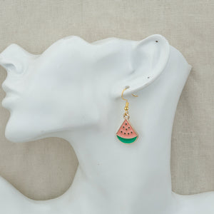 Watermelon Earrings (Gold Plated) - Sour Cherry