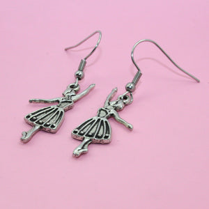 Ballerina Girl Earrings - Sour Cherry