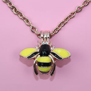 Bee Locket Necklace - Sour Cherry