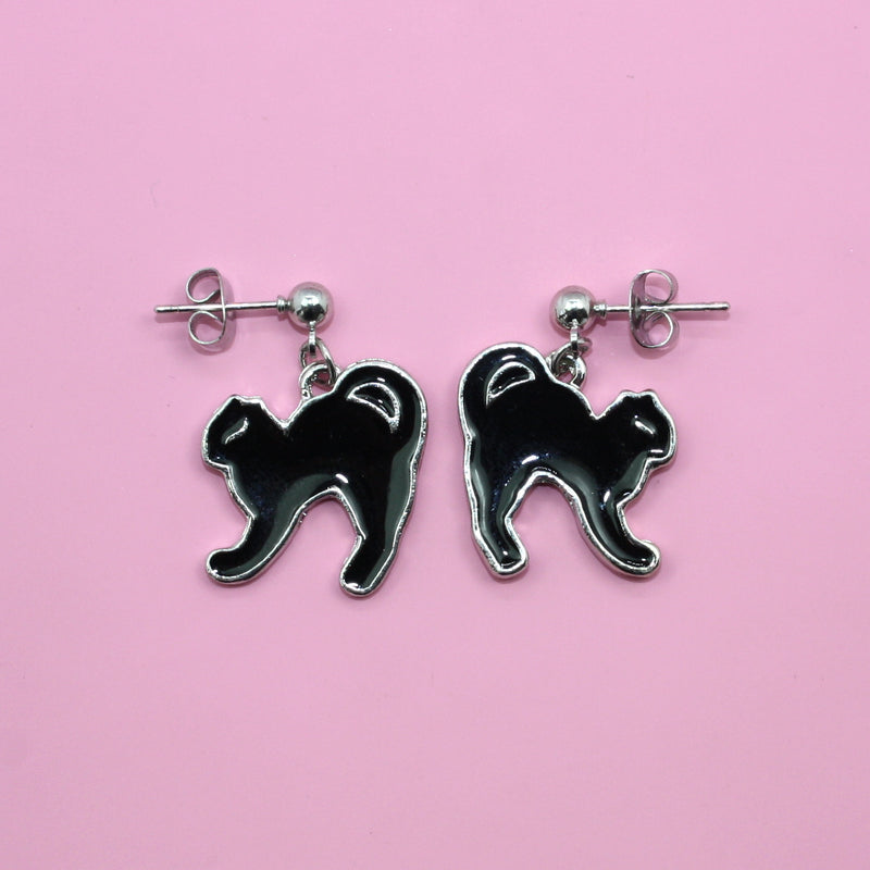 Black Cat Earrings - Sour Cherry