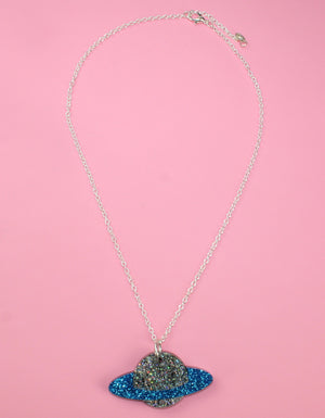 Blue Planet Necklace - Sour Cherry