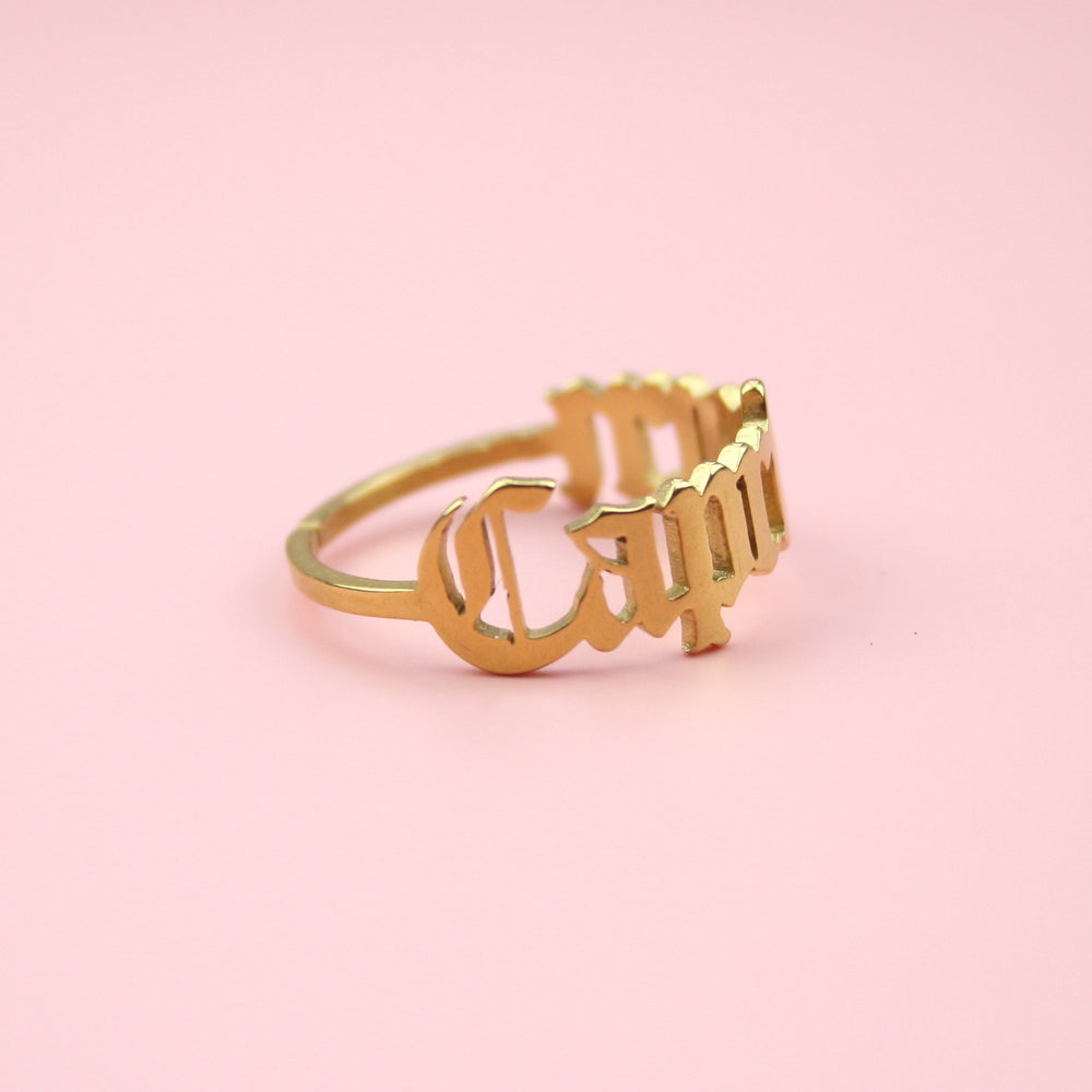Capricorn Zodiac Ring (Gold Plated)