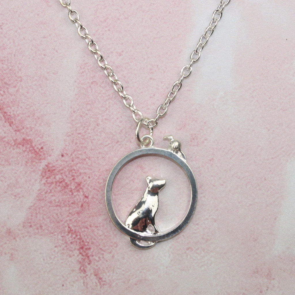 Cat & Mouse Necklace - Sour Cherry