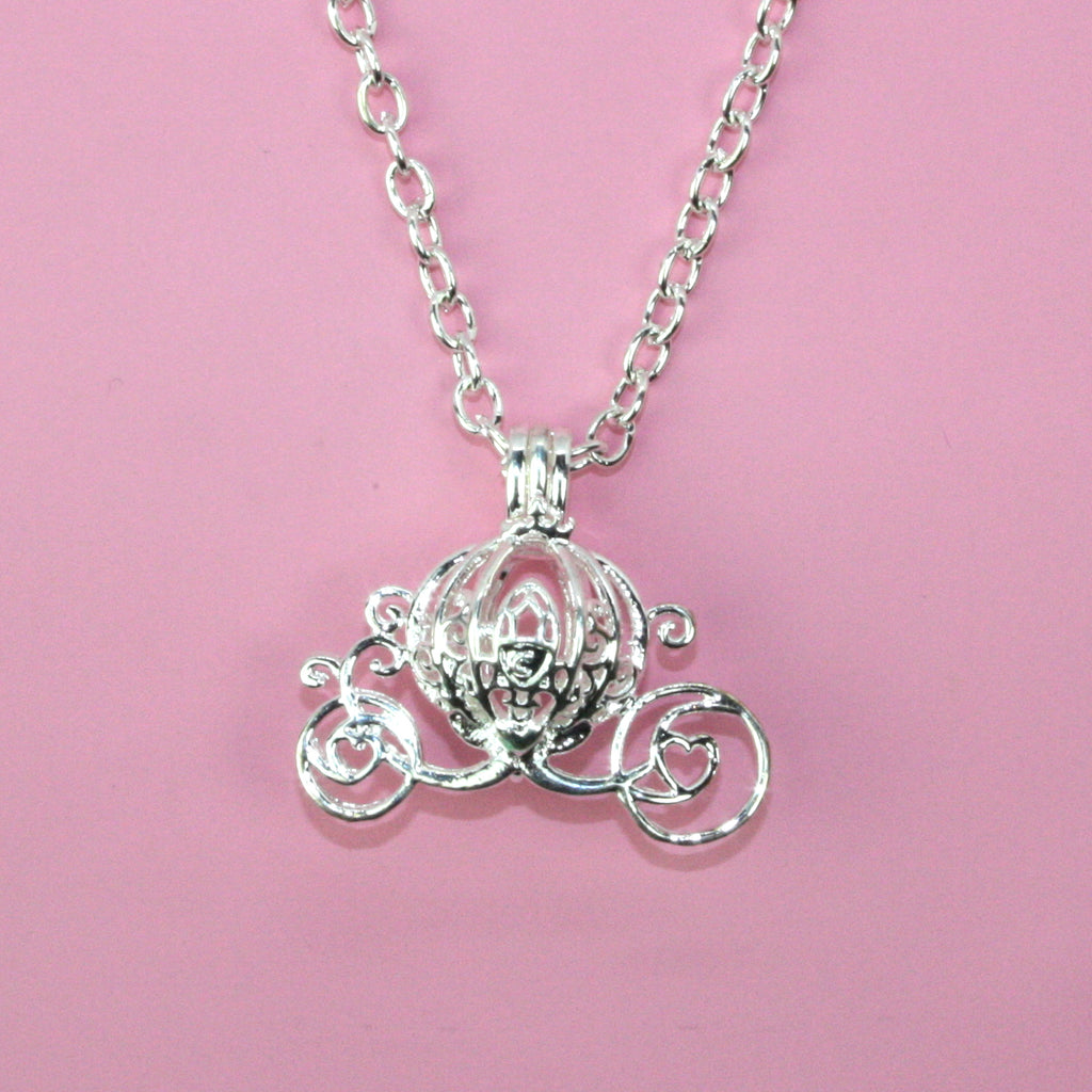 Cinderella's Carriage Necklace - Sour Cherry