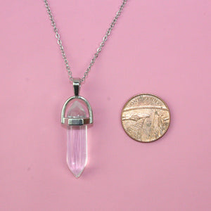 Load image into Gallery viewer, Clear Quartz Necklace - Sour Cherry