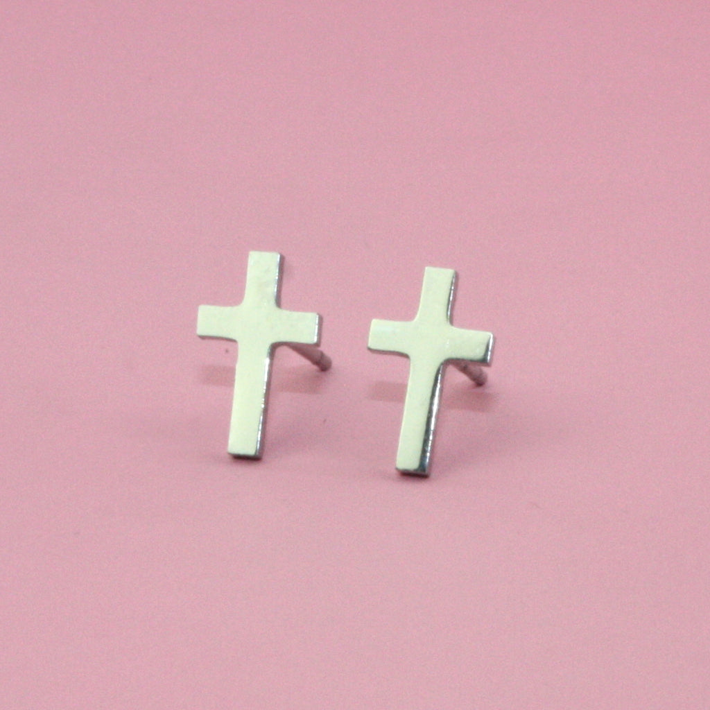 Cross Studs - Sour Cherry