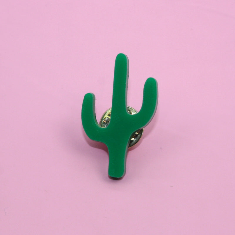 Dark Green Cactus Pin