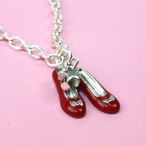 Dorothy's Red Shoes Necklace - Sour Cherry