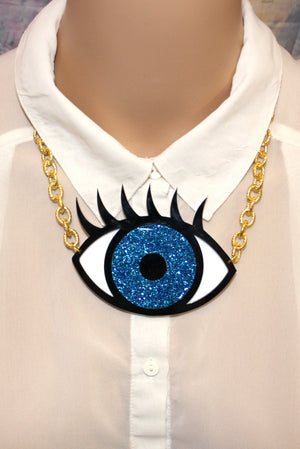 Large Eye See You Necklace - Sour Cherry