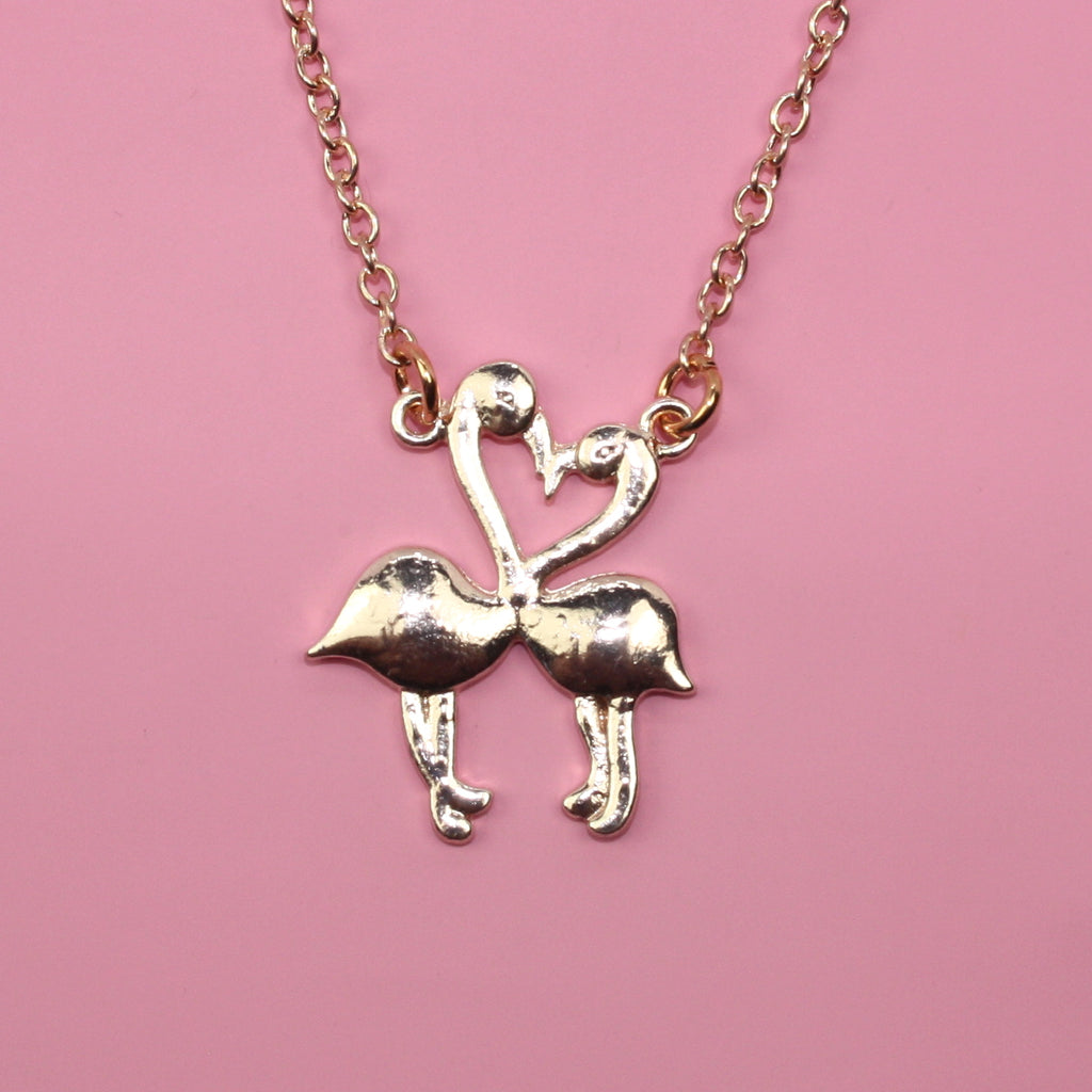 Flamingo Heart Necklace