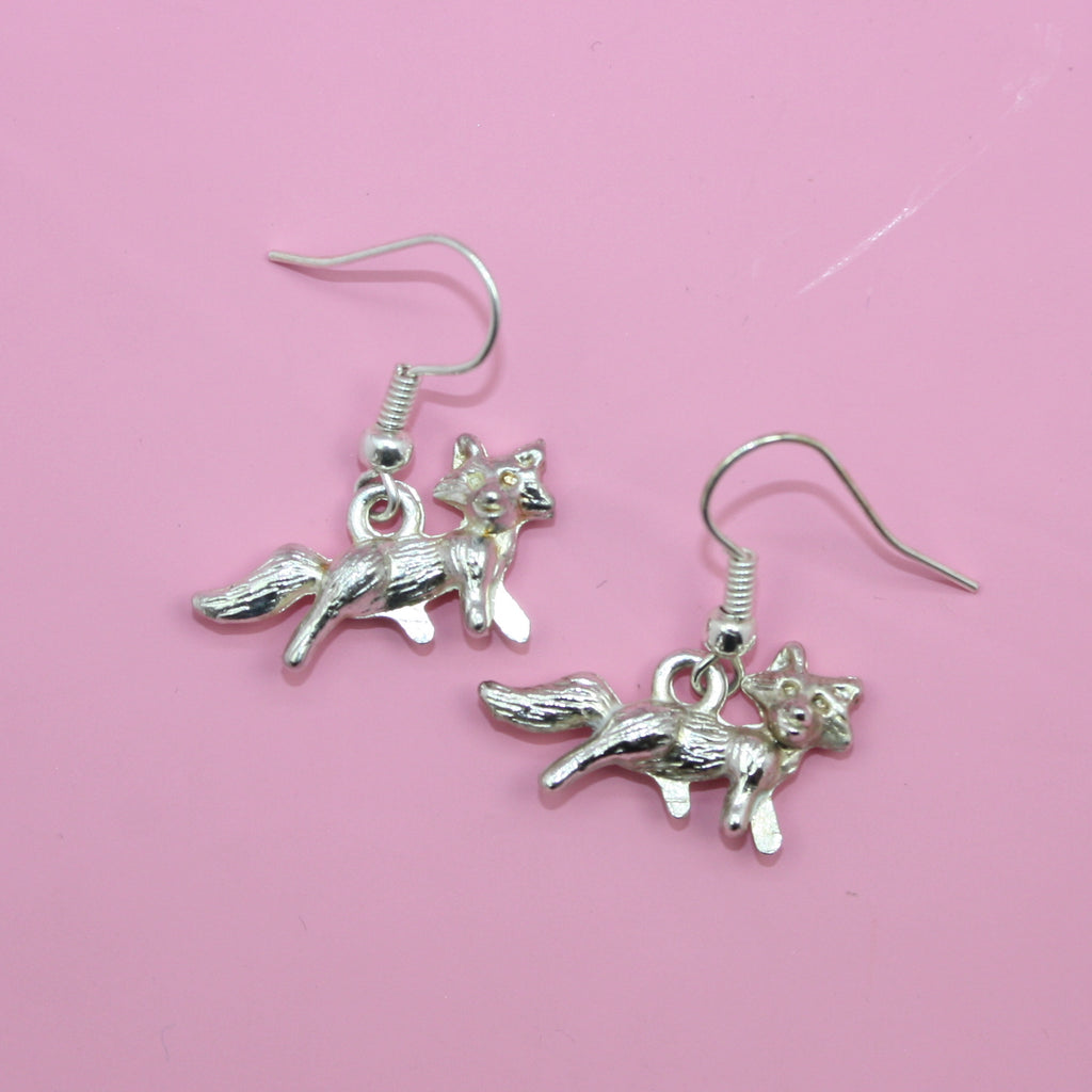 Fox Earrings - Sour Cherry