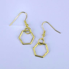 Honeycomb Earrings - Sour Cherry