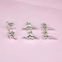 6 piece Dinosaur Earring Set (Silver Plated) - Sour Cherry