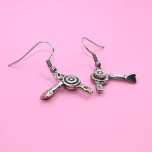 Hairdryer Earrings - Sour Cherry