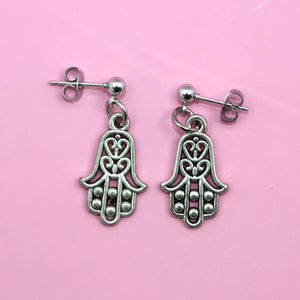 Hamsa Drop Earrings